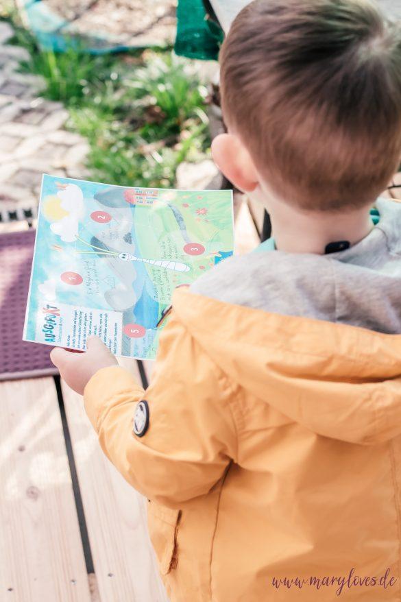 Schatzsuche für Kleinkinder: Die Schatzkarte mit Hinweisen zu den verlorenen Schmetterlingsflügeln