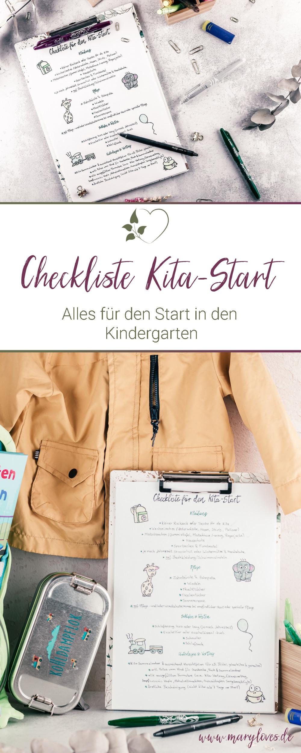 [Anzeige] Checkliste Kita-Start - Alles für den Start in den Kindergarten - #kitastart #checklistekita #kindergarten #kitakind