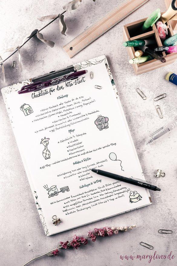 Checkliste für den Kindergarten-Beginn