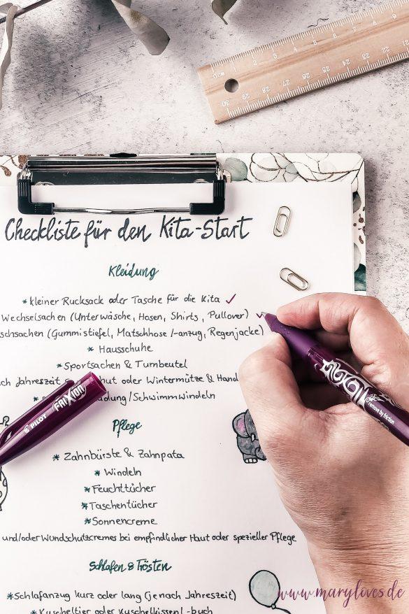 Checkliste Kita-Start - Alles für den Start in den Kindergarten