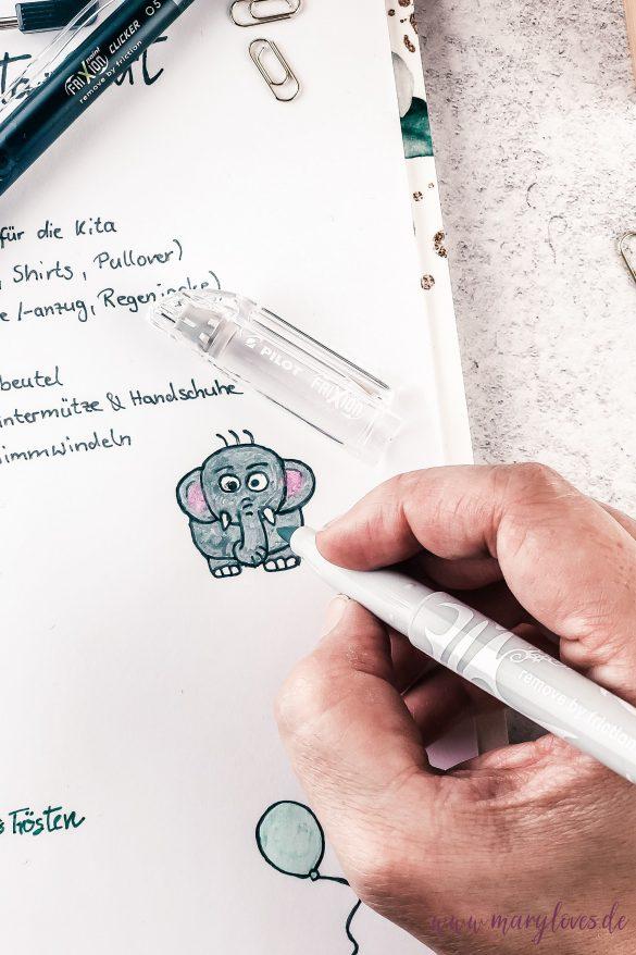 Checkliste gestalten mit den PILOT FriXion Stiften
